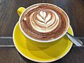 A cup of cappuccino at Indooroopilly Shopping Centre.JPG
