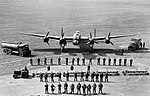 A graphic line-up of all the personnel required to keep one Avro Lancaster of RAF Bomber Command flying on operations, taken at Scampton, Lincolnshire, 11 June 1942. CH15362.jpg