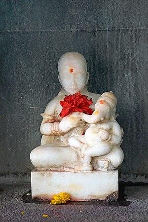 Murti - A murti of Parvati Ganesha in Maheshwar temple, Madhya Pradesh