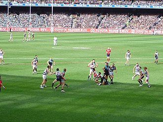 2007 AFL Grand Final - Image: A vision of play during the 2007 AFL Grand Final