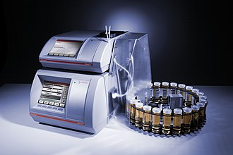 Refractometer - Measuring combination of an automatic refractometer and a density meter as widely used in the flavors and fragrances industry - Source of image: Anton Paar GmbH, www.anton-paar.com
