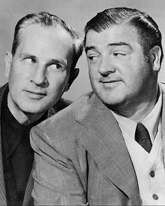 Abbott and Costello - Abbott and Costello on radio (note Abbott without toupee normally worn in films)