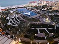Abu Dhabi - The Ritz-Carlton Abu Dhabi, Grand Canal - فندق ريتز كارلتون أبو ظبي، القناة الكبرى - pool area at night - منطقة حمام السباحة ليلا - panoramio.jpg