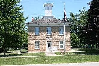 Adeline, Illinois - Old School in Adeline, built 1868