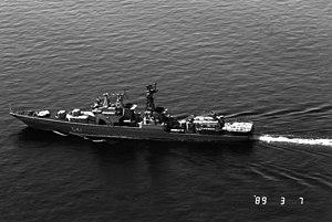 БПК «Адмирал Захаров», 7 марта 1989 года