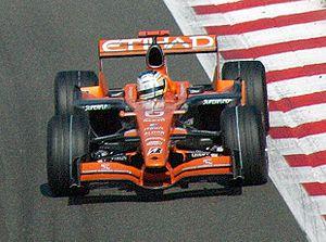 Spyker F8-VII - Sutil driving the F8-VIIB at the 2007 Belgian Grand Prix.