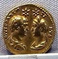 Adriano, aureo per traiano e plotina divinizzati, 134-138.JPG