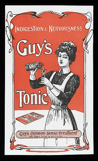 Advertising - Advert for Guy's Tonic Wellcome in 1900's