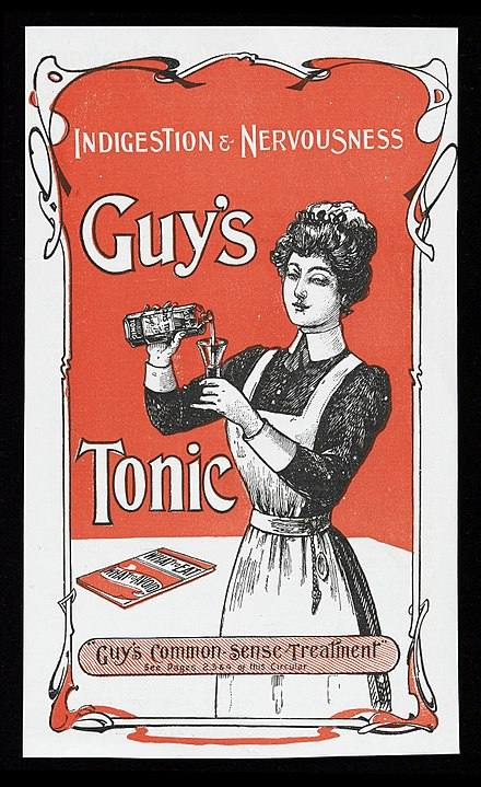 Advertisement for Guy's Tonic in the 1900s Advert for Guy's Tonic Wellcome L0040436.jpg