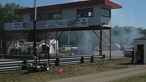Saskatchewan International Raceway - Image: After a burnout