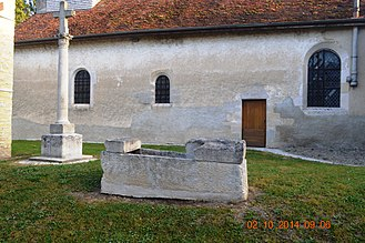 Ailleville - A Sarcophagus and the Cistercian Cross