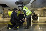 AirBaltic Bombardier CS300 mainenance (33221383715).jpg