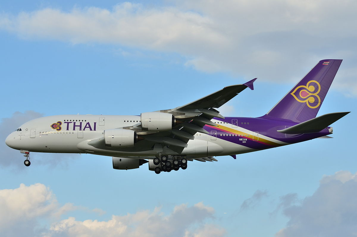 Airbus A380-800 der Thai Airways International