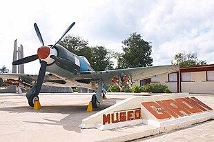 Aereo da caccia cubano FAR Hawker Sea Fury FB11-541, al Museo del Giron