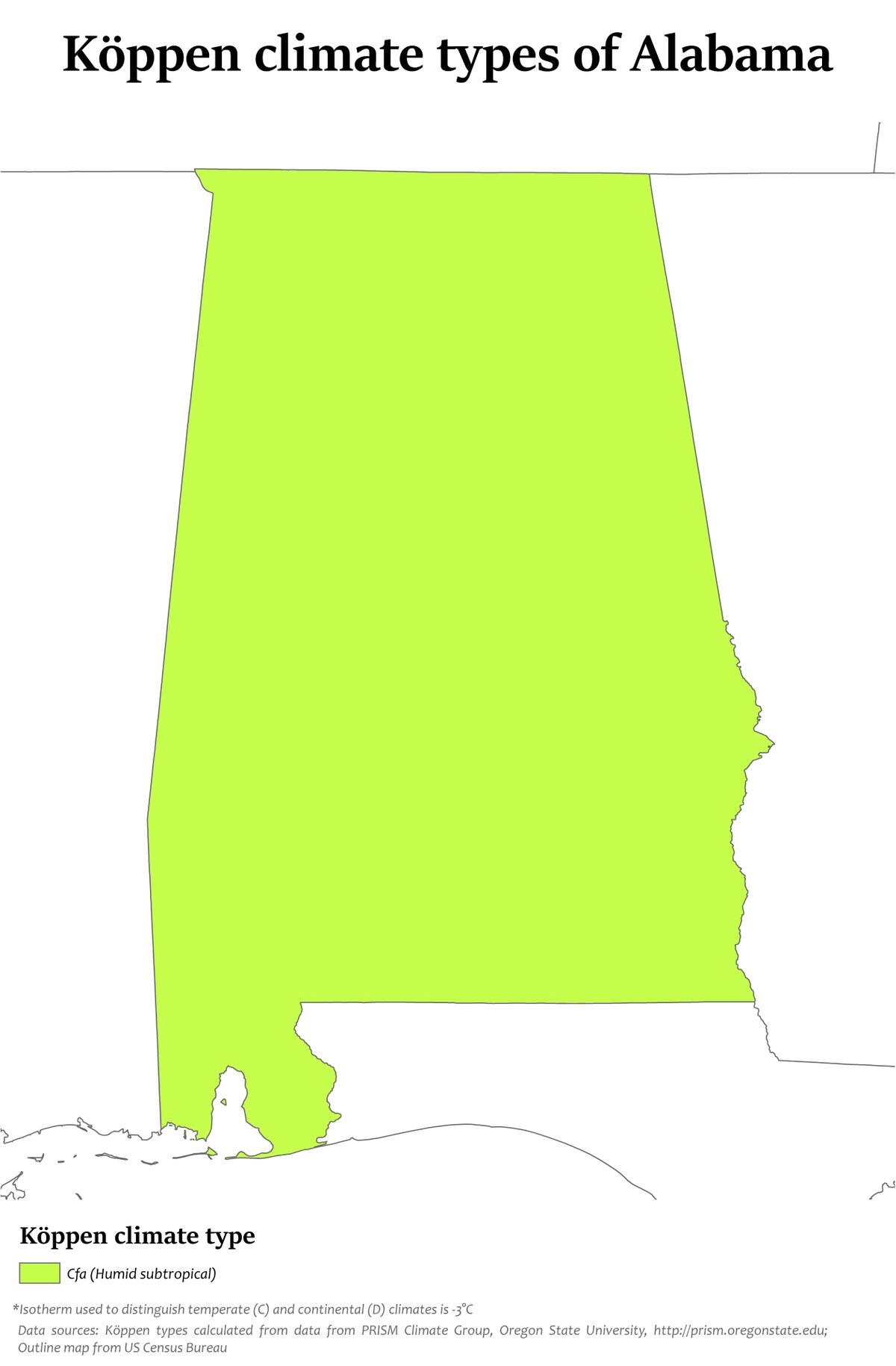 Climate Of Alabama Wikipedia