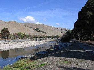 Alameda Creek - Alameda Creek at the flats of Niles where it has emerged from the Niles Canyon.