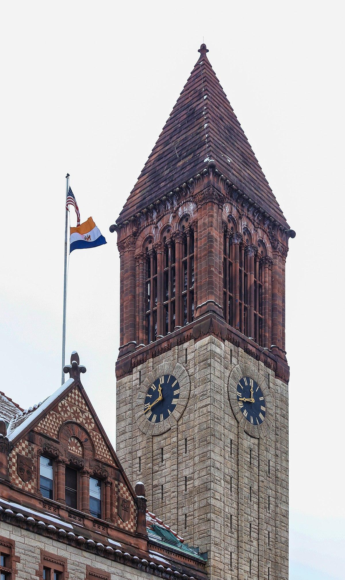 File:Albany City Hall, New York Tower.jpg