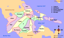 Political map of Albay