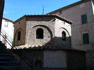 Albenga Baptistery church building in Albenga, Italy