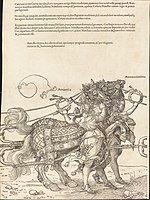 Albrecht Dürer, The Triumphal Chariot of Maximilian I (The Great Triumphal Car) (plate 7 of 8), 1523 (Latin ed.), NGA 57609.jpg