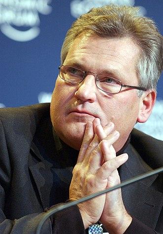 Aleksander Kwaśniewski - At the World Economic Forum in 2004