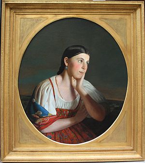 Alexey Venetsianov - Image: Aleksey Venetsianov (Russian, 1780 1847) Portrait of a peasant girl