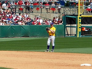 Alex Bregman - Bregman playing shortstop for LSU at Baum Stadium