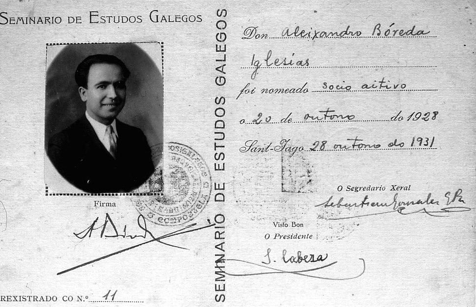 Alexandre Bóveda Seminario de Estudos Galegos