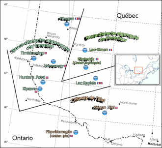 Ottawa Valley - Federally Recognized Algonquin Communities and Dialect Isoglosses