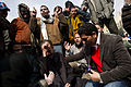 Alhurra reporter interviews Egyptian protesters, Tahrir Square, February 7, 2011.jpg