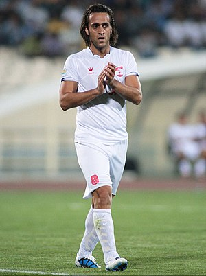 Ali Karimi - Ali Karimi while playing for Steel Azin