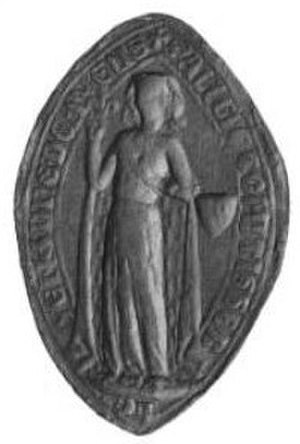 Alix of Brittany, Dame de Pontarcy - Medallion of Alix
