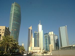 All major buildings in kuwait in one shot by irvin calicut.jpg