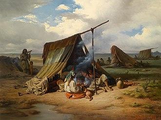 Romani diaspora - Romani nomads, c. 1857