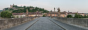 Alte Mainbrücke and Festung Marienberg, East View 20140604.jpg