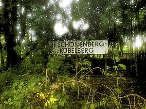 Schönenberg-Kübelberg - Station sign at the former railway station