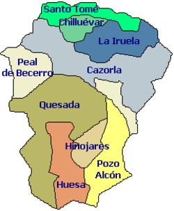 Sierra De Cazorla Y Segura Mapa.Comarca De Sierra De Cazorla Wikipedia La Enciclopedia Libre