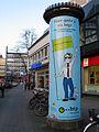 Am Marstall Schmiedestraße Hannover Litfasssäule mit Werbung htp GmbH net Limburgstraße 9 DSL Telefonie Mobil in der Region.jpg