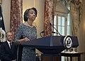 Ambassador Bernicat Delivers Remarks at her Swearing-in Ceremony (15603187173).jpg