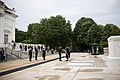 Ambassador from the Republic of Macedonia lays a wreath at the Tomb of the Unknown Soldier in Arlington National Cemetery (26919921365).jpg
