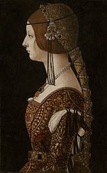 Giovanni Ambrogio de Predis: Bianca Maria Sforza