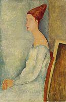 Amedeo Modigliani Jeanne Hebuterne assise de profil.jpg