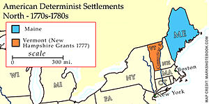 New Hampshire Grants - The New Hampshire Grants region petitioned Congress for entry into the American union as a state independent of New York in 1776.
