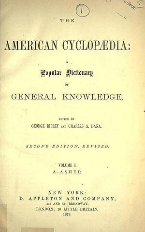 New American Cyclopædia -  Title page of the American Cyclopædia,1879