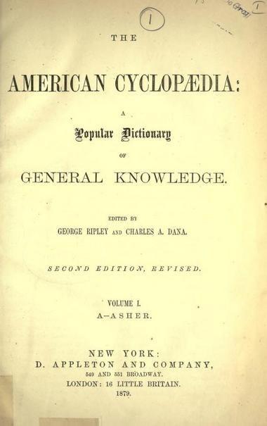 American cyclopaedia frontispiece