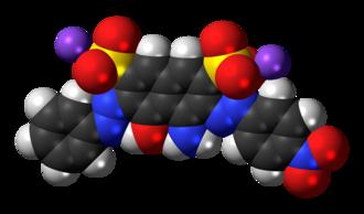 Amido black 10B - Image: Amido black 10B sodium 3D spacefill
