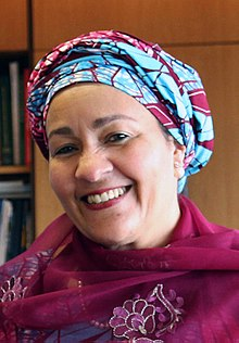 Amina J. Mohammed in London in 2018