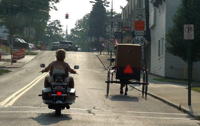 Amish vs modern transportation