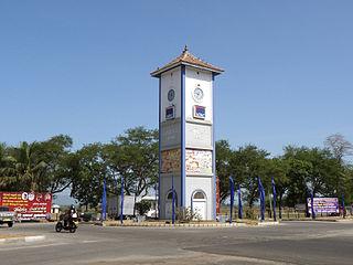 Ampara Town in Sri Lanka