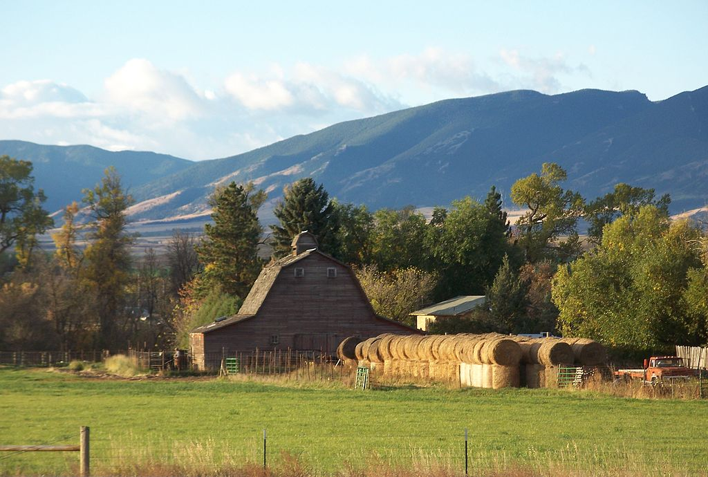 file an old barn with the big horn mountains in the